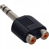 Picture of Adaptador 1x Jack 6.3 M/ 2x RCA F